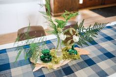 Greenery Covered Centerpiece from a Rustic Camping Birthday Party via Kara's Party Ideas | KarasPartyIdeas.com (43)