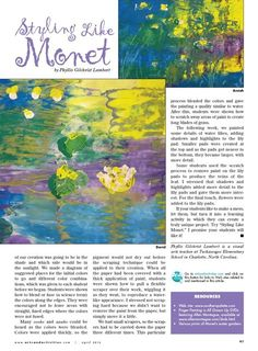 Arts & Activities - Page 38 Monet scraped paint project