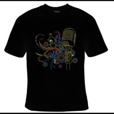 Custom Design T-Shirt from T&L Fashions Music Design Small - 4XL Tops Tees - Short Sleeve