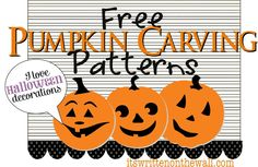 It's Written on the Wall: OVER 200 FREE Halloween Pumpkin Carving Patterns