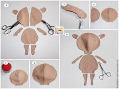 Tilda com rosto redondo. Gostei! e encontrei com molde para o corpo e tutorial para fazer   Os moldes completos de corpo e roupas esta ...