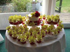 Yellow Flower Cake & Cupcakes