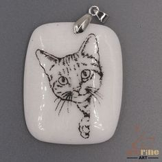 UNIQUE NECKLACE  COLOR PAINTING CAT PENDANT WHITE GEMSTONE ZL7001510 #ZL…