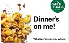 WHOLE FOODS FAN – $100 WHOLE FOODS E-GIFT CARD GIVEAWAY