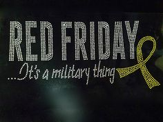 Red Friday it's a Military thing Rhinestone Transfer Iron On - DIY >>> You can find out more details at the link of the image.
