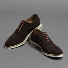 Italian Suede Oxfords | Thomas Dean $157