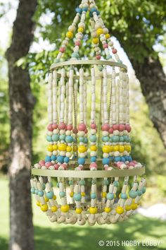 This beaded chandelier will set the scene for your next summer party!