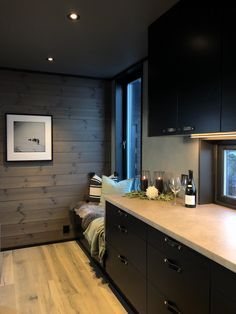 Lun hytte i Sogndal - Vyrk - Lilly is Love Space Interiors, Cabin Interiors, Rustic Bedroom Design, Building A Cabin, Cute Furniture, Timber Walls, Diy Design, Interior Design, Stylish Bedroom