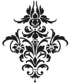 Going to use this great damask pattern for a lantern idea...