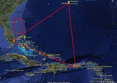 The Bermuda Triangle stretches from the Straits of Florida down to San Juan, Puerto Rico, and up to Bermuda in the mid-Atlantic. In this large area, there have been dozens of shipwrecks and plane crashes, with the first having been reported on September 16, 1950. Many of these incidences have been associated with paranormal activity, extraterrestrial kidnappings, and unusual weather.