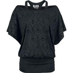 "Black Premium by EMP T-Shirt, Women ""Bat Double Layer"" black • EMP"