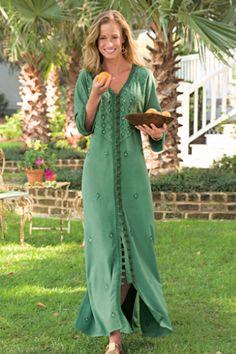 Sandwashed Dress - Embroidered Dress, Misses Dresses | Soft Surroundings