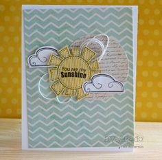 Super cute card created by @Teri Anderson using this month's Sassy Chick and Sunshine and Smiles sets.