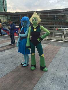 Lapis and peridot cosplay