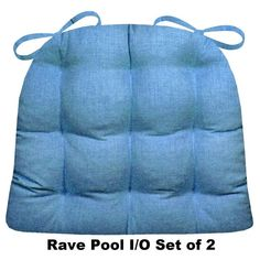Rave Pacifc Blue patio chair cushions & indoor/outdoor dining chair pads are made in a solid color woven fabric with a sophisticated sheen in Pacific ocean blue. Outdoor Dining Chair Cushions, Patio Cushions, Patio Chairs, Dining Chairs, Dining Room, Adirondack Chairs, Outdoor Fabric, Indoor Outdoor, Outdoor Living