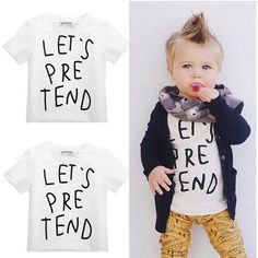 Lovely Toddler Baby Kids Boys Girls Short Sleeve Tops T-Shirt Tee Summer Child Clothes Cotton Tee Top #clothing,#shoes,#jewelry,#women,#men,#hats,#watches,#belts,#fashion,#style