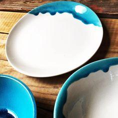 """Bowl ceramic, turquoise, hand made Ibiza by Carola Barroch 235 Me gusta, 20 comentarios - Carol (@carolabarroch) en Instagram: """"Nos encanta las Dalias Night Market, ven a compartir con nosotros ✨ lunes y martes de 7pm a 1✨"""""""