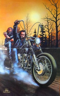 ***DAVID MANN*** EASYRIDERS***TURKEY DAY***HARLEY CHOPPERS