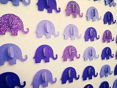 3D Purple Elephant Picture by Polkadotcorner22 on Etsy