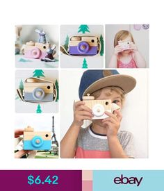Other Baby Toys Cute Kids Baby Wooden Toy Camera Minimalist Simulation Camera Christmas Gift S #ebay #Home & Garden