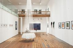 Installation view. 'But he doesn't have anything on!' Stairs, Loft, Sculpture, Bed, Furniture, Home Decor, Stairway, Decoration Home, Stream Bed