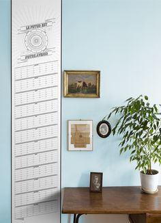 The Papier Temps Futur B from Papier Tigre (39€) - perpetual wall calendar and a gorgeous one at that