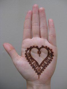 Simple. Love it! using Henna