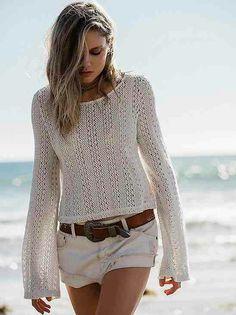 Crop/long sleeve