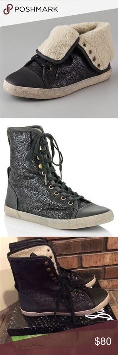 Selling this Sam Edelman Shearling High Top Sneakers on Poshmark! My username is: sammee78. #shopmycloset #poshmark #fashion #shopping #style #forsale #Sam Edelman #Shoes