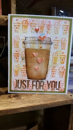 This is a fun project from the Tim Holtz Sizzix collection. Coffee! Who wouldn't love this project?