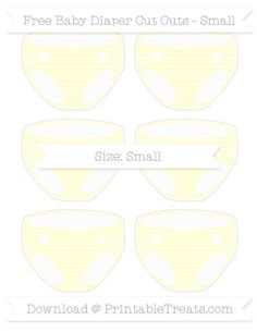 Cream Horizontal Striped  Small Baby Diaper Cut Outs
