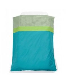 Dekbedovertrek Aqua/groen Ledikant 100x140 - Mundo Melocoton