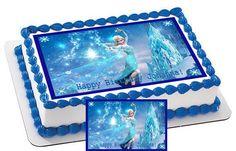 Frozen Elsa Edible Birthday Cake Topper OR Cupcake Topper, Decor