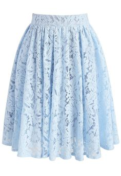 Daydreamer Whole Lace Skirt in Blue - New Arrivals - Retro, Indie and Unique Fashion