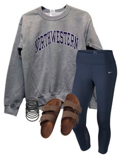 """Untitled #178"" by lhnlila on Polyvore featuring NIKE, Birkenstock and Forever 21"