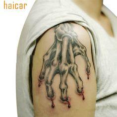 aa9129707 HAICAR Love Beauty Female 1 Sheet Halloween Horror Bloody Hand Arms Tattoo  Stickers Scary Body Art