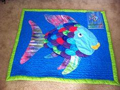 Rainbow fish quilt