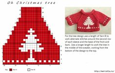 Glitz at the Ritz pattern by Helen Stewart Knitting Charts, Knitting Stitches, Baby Knitting, Knitting Patterns, Crochet Patterns, Crochet Ideas, Knit Christmas Ornaments, Christmas Knitting, Christmas Sweaters