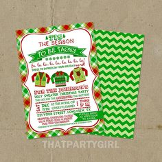 Ugly Sweater Holiday Party Invitations  DIY U by thatpartygirl, $14.99