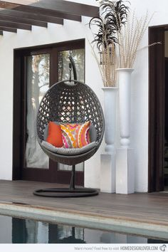 Swing with 15 Hanging Outdoor Chair   Home Design Lover
