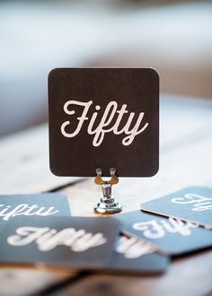 Fifty   Set of 10 Paper Coasters by KellyElliottCreative on Etsy