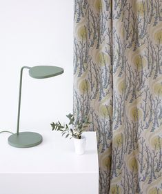 'Birch Tree Sun' drape - a fabric designed by Angie Lewin for St Jude's Fabrics. Curtain Fabric, Curtains, Angie Lewin, Grey Lounge, Fabric Paper, Wood Engraving, Birch, Fabric Design, Lounge Ideas