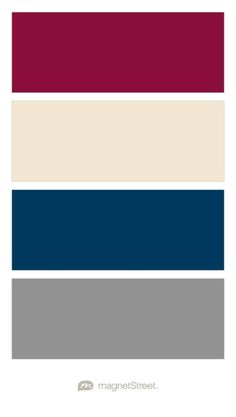 Burgundy, Champagne, Navy, and Classic Gray Wedding Color Palette - custom color palette created at MagnetStreet.com