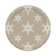 Rustic White Faux Burlap Snowflake Pattern Paper Plate  sc 1 st  Pinterest & Merry u0026 Bright Snowflake Paper Plates | Christmas Party Ideas ...
