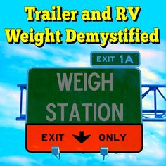 Trailer and RV Weight Demystified