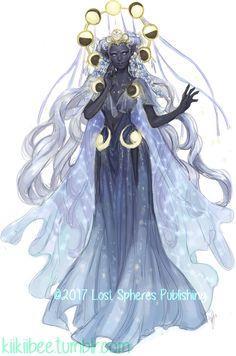 ArtStation - seven seraphs. Moon Goddess, Kii Weatherton