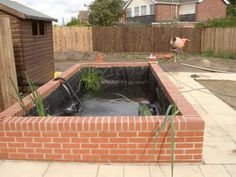 1000 images about patio ideas on pinterest koi ponds for Brick fish pond