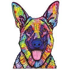 German Shepherd Dog Wall Sticker Cut Out Dean by MyWallStickers