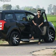 Punjabi Girl With Gun Wallpaper Image For Handsome Boy In Car Cool And Stylish Fb Dp For