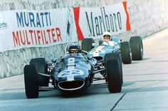 Richie Ginther (Eagle) and Bob Anderson (Brabham), Monaco GP 1966